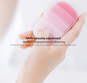 InFace Electric IPX7 Waterproof Silicone Deep Facial Cleaning Massage Brush (Sonic)