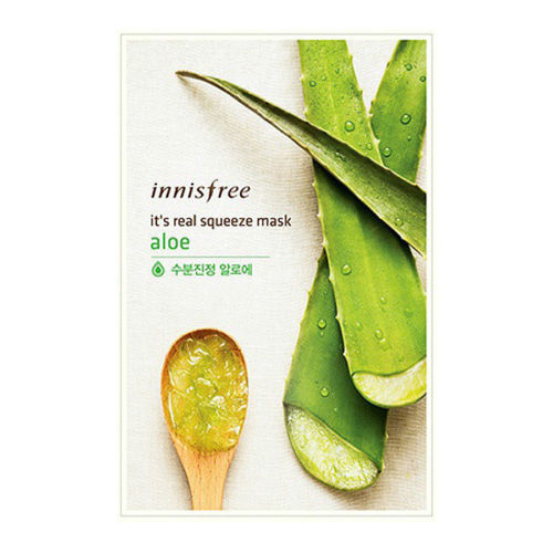 [Made in KOREA]  InnisFree - Aloe Moisturizing Mask Sheet
