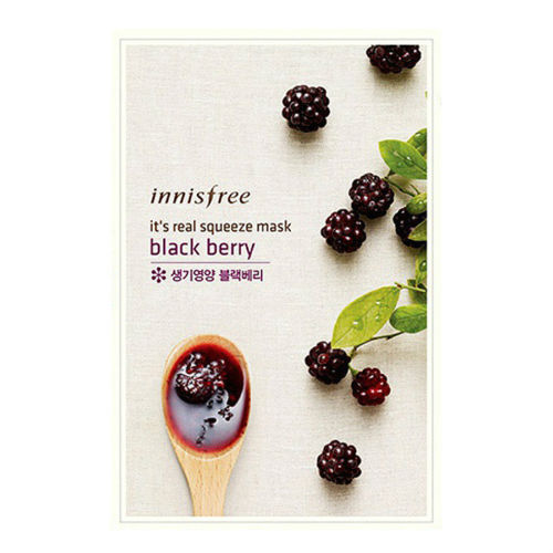 [Made in KOREA]  InnisFree - Black Berry Moisturizing Mask Sheet (With different functions)