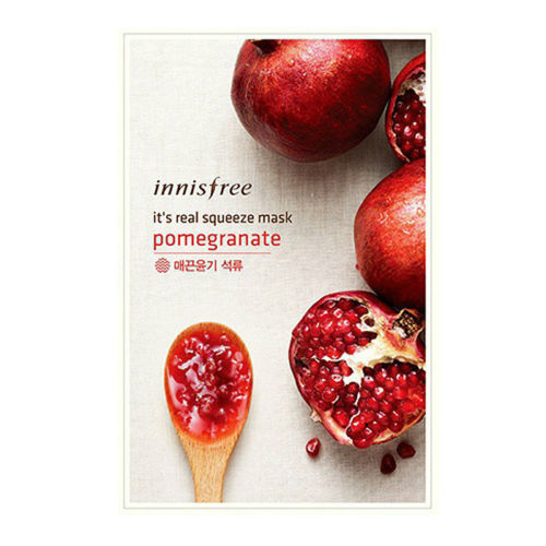 [Made in KOREA]  It's Real - Pomegranate Moisturizing Mask Sheet