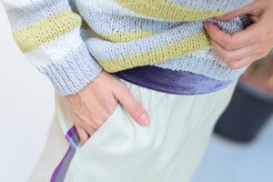 Pants With Lilac Stripes