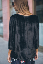 Load image into Gallery viewer, Black Velvet Blouse