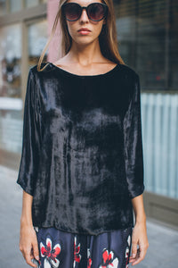 Black Velvet Blouse