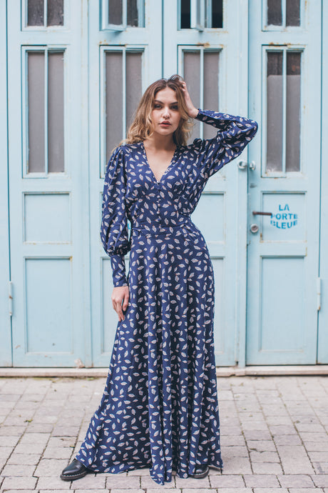 Blue Boho Chic Dress