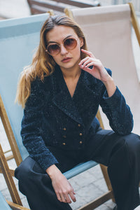 Dark Blue Shimmering Jacket