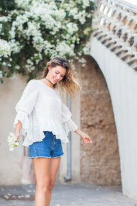 Loose White Cotton Blouse