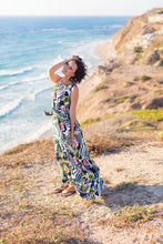 Load image into Gallery viewer, Long Colorful Dress with Frills