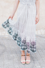 Load image into Gallery viewer, Gray Cotton Dress with Embellished Frills