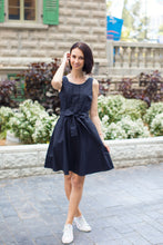 Load image into Gallery viewer, Black Cotton Dress