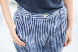 Blue-Striped Trousers.
