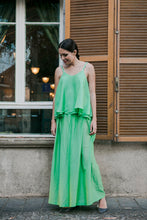 Load image into Gallery viewer, Green Skirt with Pleats
