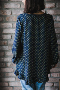Dotted Blouse with Frills
