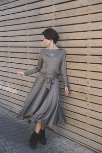 Brown Tricot Dress