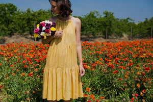 Yellow Tier Dress
