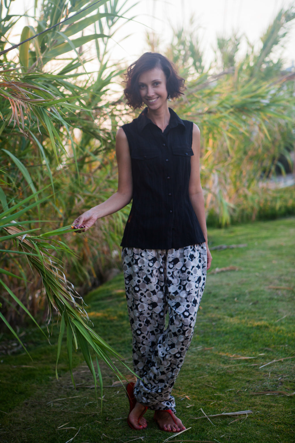 Black and White Printed trousers