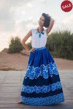 Load image into Gallery viewer, Blue Flower Skirt
