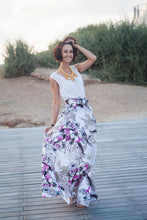 Load image into Gallery viewer, Bright Floral Long Skirt