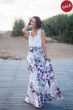 "Load image into Gallery viewer, ""Watercolor"" Long Skirt"