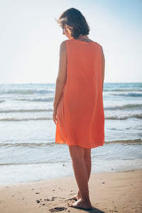 Peachy Sleeveless Dress