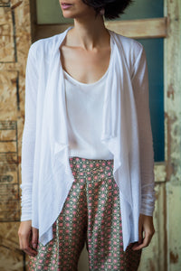 White Cotton Cardigan