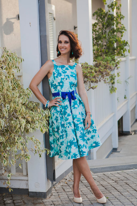 Turquoise Flower Dress