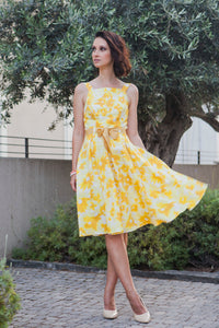 Yellow Flowery Dress