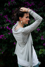Load image into Gallery viewer, Gray Cotton Cardigan