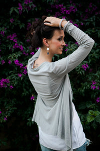 Gray Cotton Cardigan