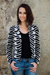 Zebra Jacket in Black and White