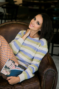 Beige Striped Sweater