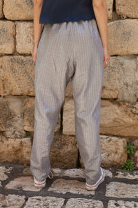 Striped Silver Trousers