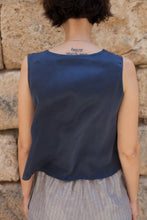 Load image into Gallery viewer, Sleeveless Blue Blouse