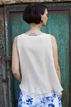 Load image into Gallery viewer, Off White Silk Tank Top
