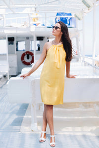 Sleeveless Yellow Dress