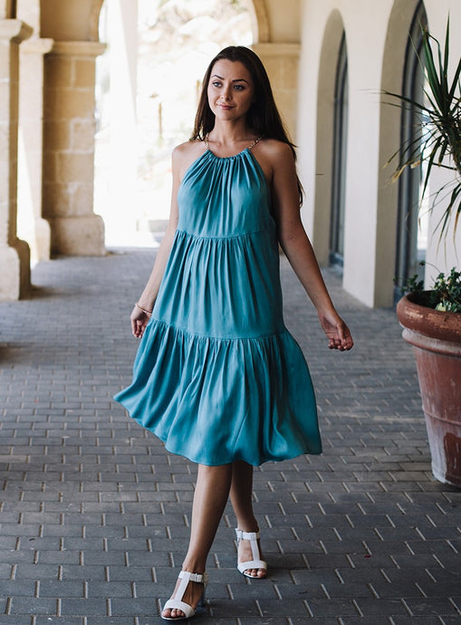 Turquoise Dress & Tiers