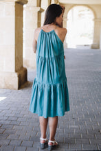 Load image into Gallery viewer, Turquoise Tier Dress