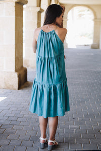 Turquoise Tier Dress
