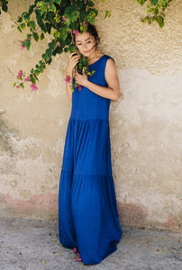 Deep Blue Long Dress