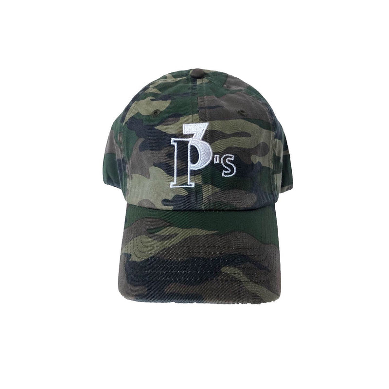 """The Logo"" Camo Dad Hat - 3 P's Clothing"