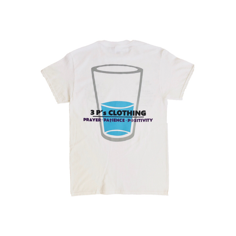"""Glass Half Full"" T-Shirt - 3 P's Clothing"