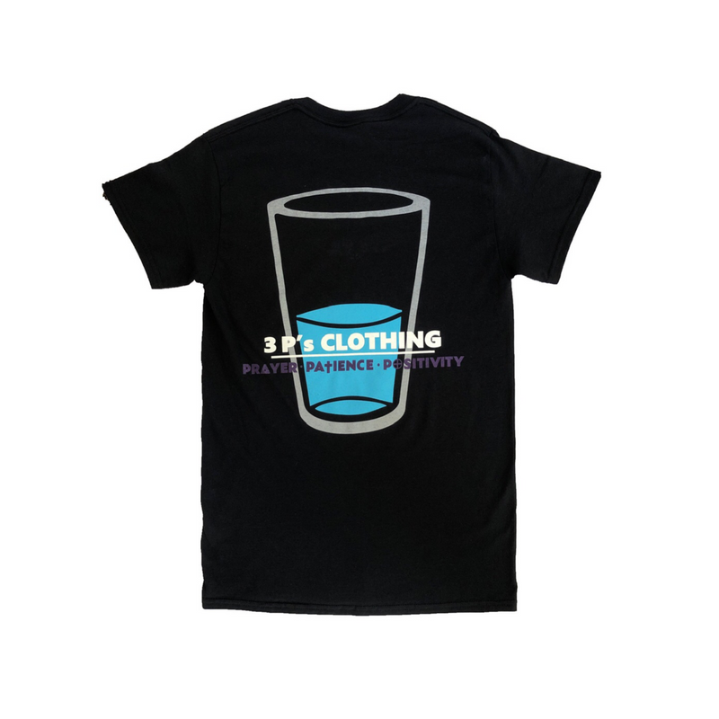 """Glass Half Full"" T-Shirts - 3 P's Clothing"