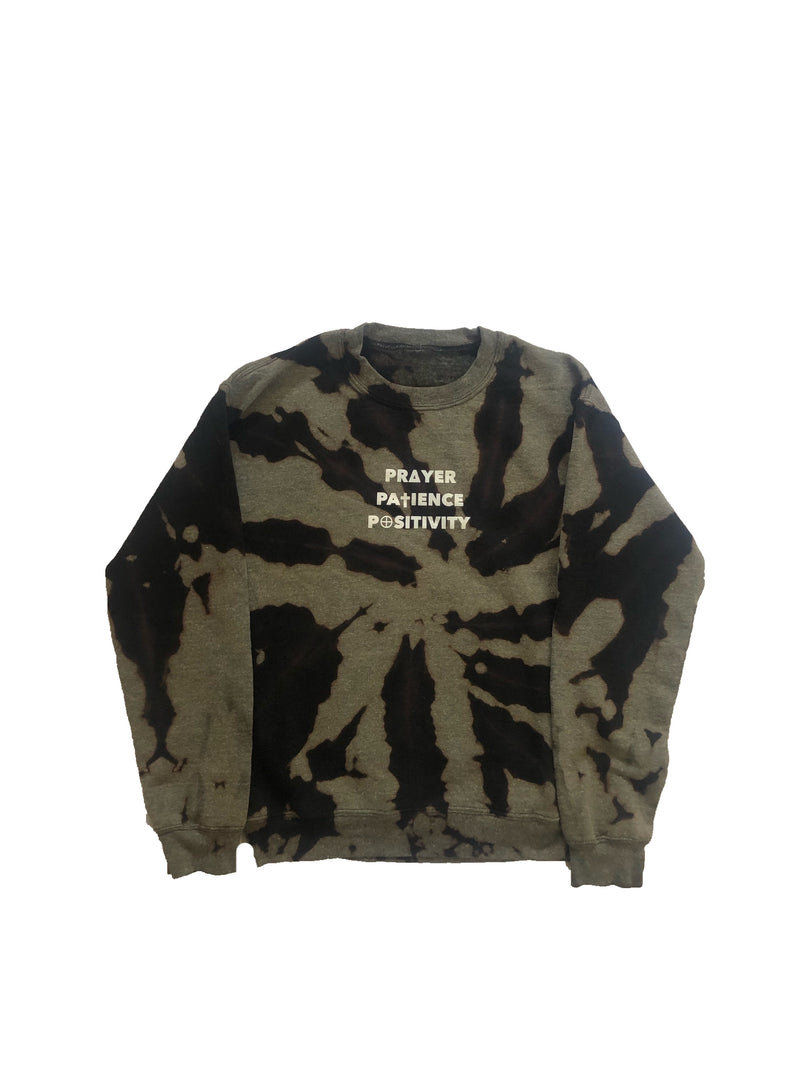 Black Bleached Crewneck - 3 P's Clothing