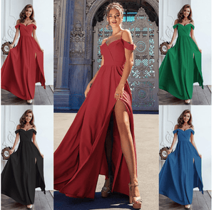 brandnewer - Elegant Formal Long V Neck Gown Dress