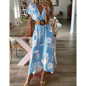 brandnewer - Floral Printed Boho Summer Sundress