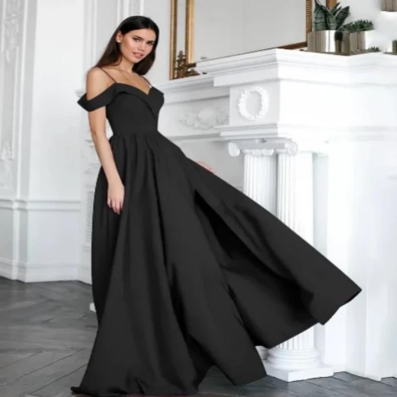 Elegant Formal Long V Neck Gown Dress