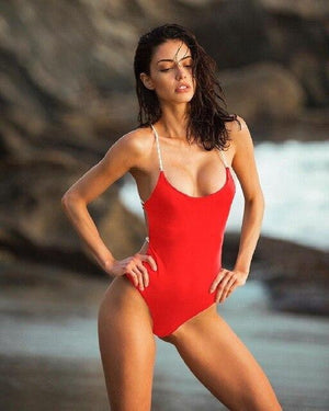 brandnewer - Women Swimsuit One Shoulder Bathing Suit