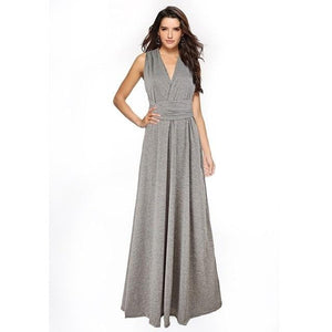 brandnewer - Cross Over V Neck Multiway Wrap Long Dress