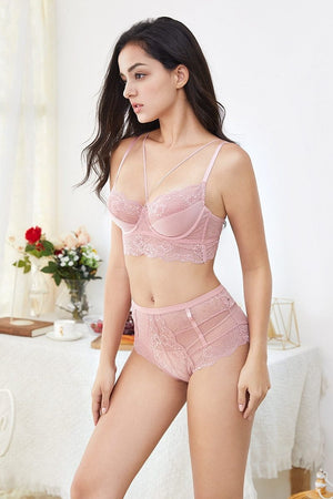 brandnewer - French Floral Lace Style Lingerie