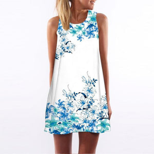 brandnewer - Floral Print Summer Dress
