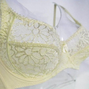 brandnewer - Floral Embroidery Lace Perspective Underwire Bra